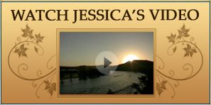 Watch Jessica's video. Still image of lake scene from video